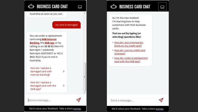 NAB taps power of AI chatbots for business customer service