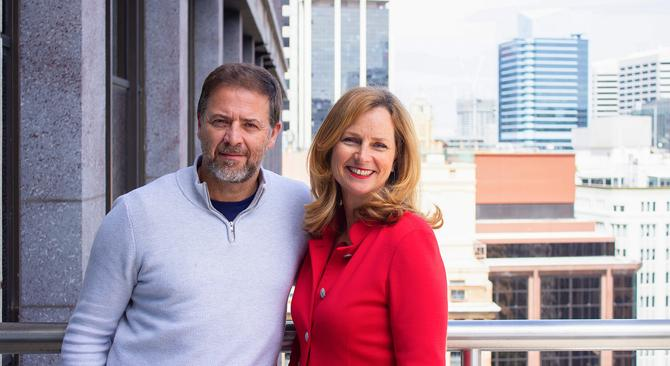 Big Red Group co-owners, David Anderson and Naomi Simson