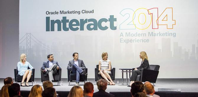 From left: Sophie Leguillette, vice-president of marketing, Sage; Parvel Patel, Grainger; Brad Rodrigues, the senior vice-president and general manager of digital and community development, Leapfrog Enterprise; Shannon Smith, vice-president of retention marketing, J Crew; Oracle Marketing Cloud's Andrea Ward