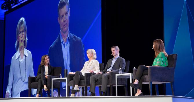 From left: Wunderman's Jamie Gutfruend, Hootsuite's Penny Wilson, Autodesk's Jeff Wright and Hakkasan's Tracee Nalewak