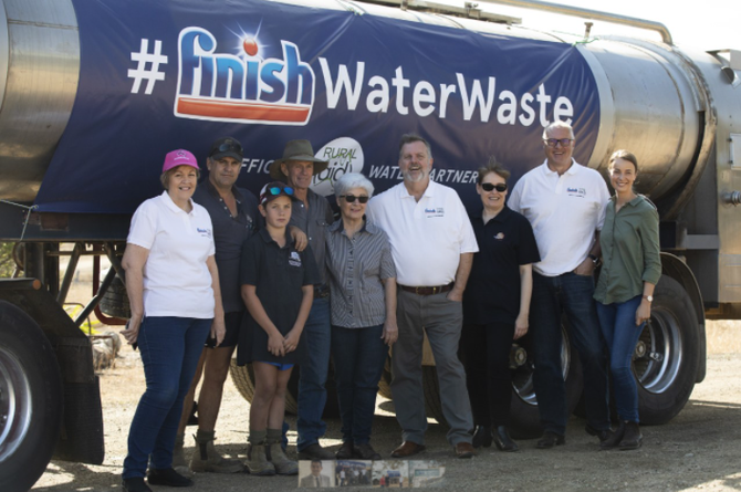 Reckitt and Rural Aid deliver water to farmers in drought