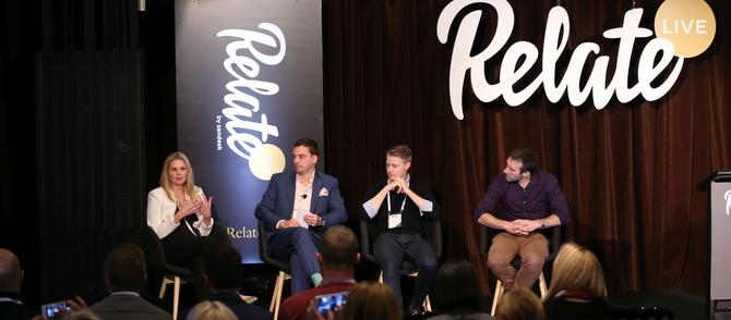 From left: Guzman Y Gomez CMO, Anna Jones; Forrester Research principle analyst, Ryan Hart; SportsBet general manager of customer support, Tony Gruebner; Uber regional director of community relations, Mark Capps