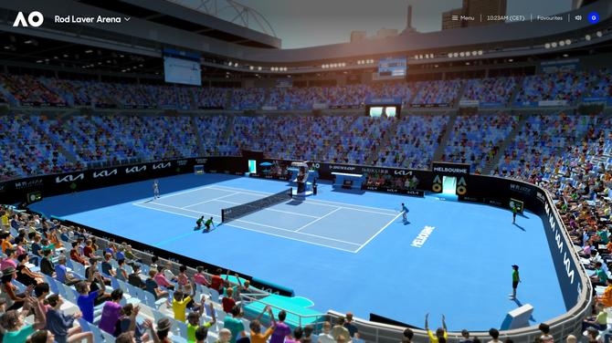 Snap of the 3D Australian Open Virtual Hub