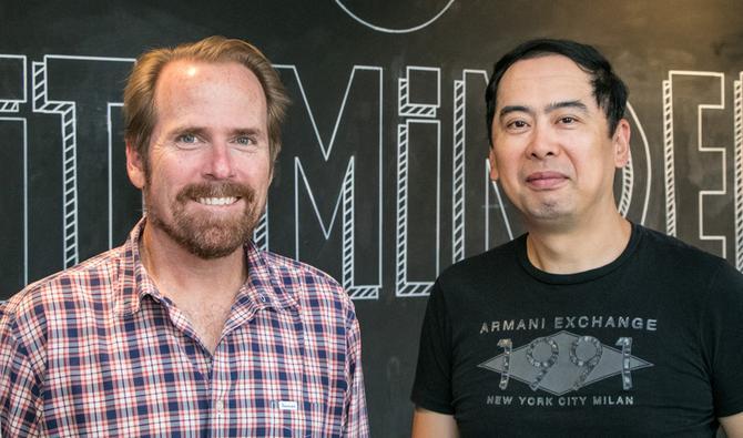 SiteMinder's new recruits, David Jaros (left) and Ken Aoyama