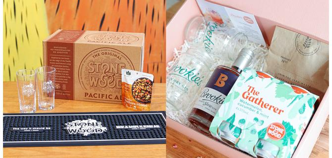 Sample of the Father's and Mother's Day products from Stone & Wood
