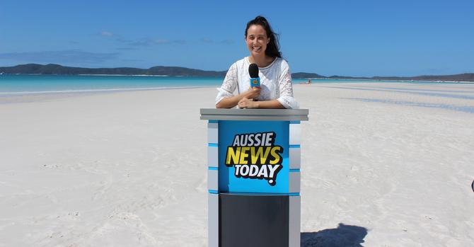 TV presenter, Teigan Nash, at Airlie Beach