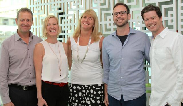 From left: Quantium's Tony David, ADMA's Jodie Sangster, Westpac's Karen Ganschow, eBay's Steve Brennen and Droga5's Steve Coll