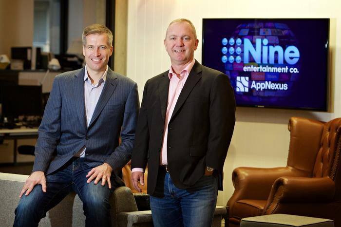 AppNexus' CEO, Brian O'Kelley with Nine's chief digital and marketing officer, Alex Parsons
