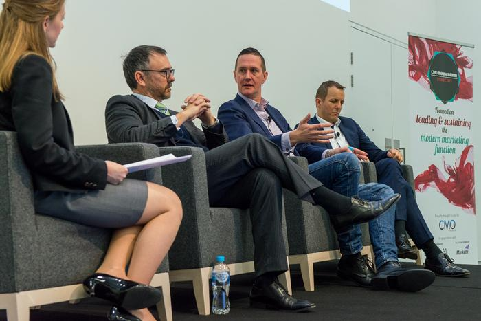 From left: CMO's Nadia Cameron, Cover-More Group's Cameron Pearson, Mercer's Cambell Holt and former Westfield marketing chief, John Batistich