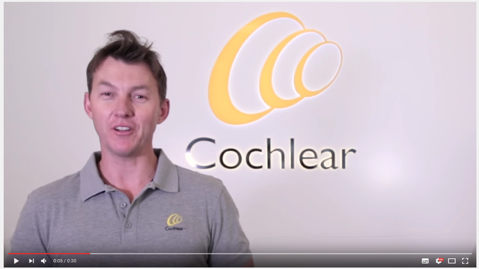 Cricketer Brett Lee featured in one of Cochlear's video posts