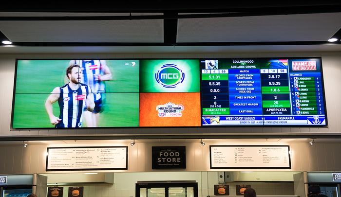 Melbourne Cricket Ground - IPTV screens