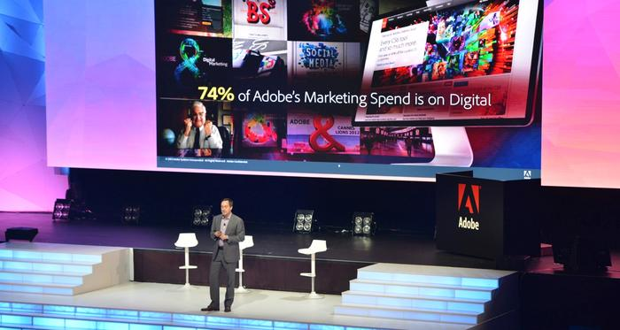 Adobe VP of brand, John Travis, at the Adobe Digital Marketing Symposium Sydney 2014