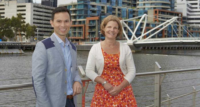Mondelez International managing director for A/NZ, Amanda Banfield, with head of marketing services, Anthony Ho