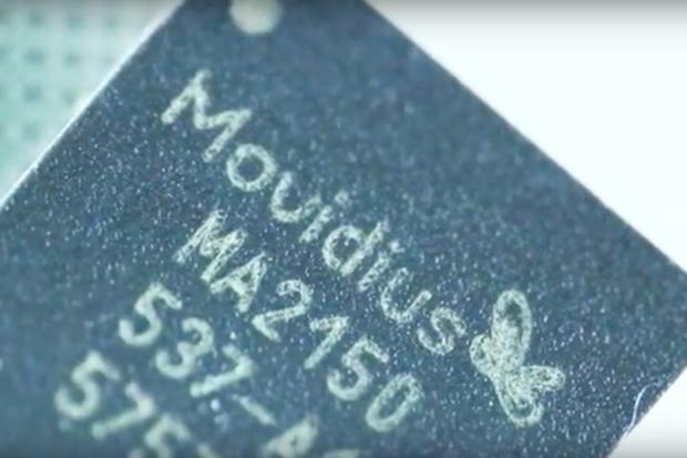 A Movidius chip. Credit: Movidius