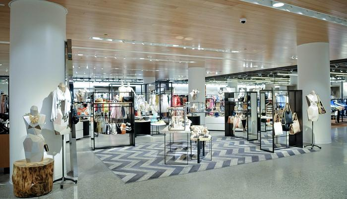 Interior of Nordstrom's flagship store in Seattle
