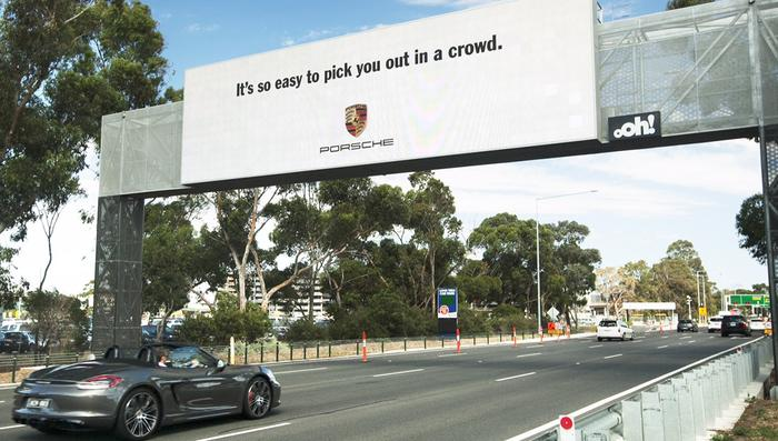 Porsche's new out-of-home digital advertising campaign