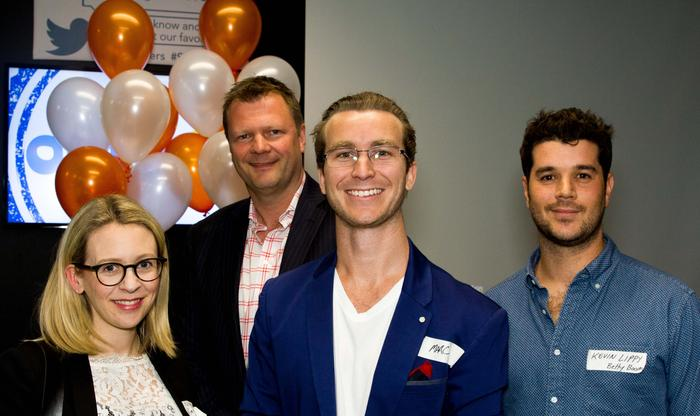 At the launch of Recomazing in Sydney (from left): Virgin Mobile director of brand, Nicole Bardsley; International Council of Customer Service secretary general, Prof Brett Whitford; Recomazing founder, Marc Cowper; and Betty Boom director and social strategy, Kevin Lippy