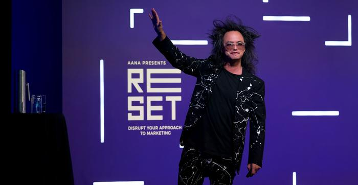 David Shing at the Reset conference.