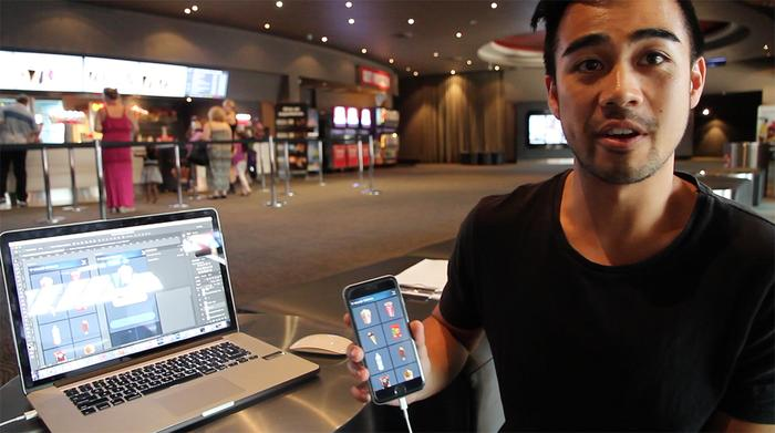 Harry Ly, digital Designer at Deepend, prepares for the three-day innovation challenge at Village Cinemas
